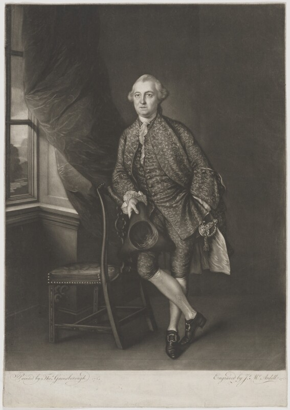 Sir Edward Turner, 2nd Bt, by James Macardell, after  Thomas Gainsborough, 1763 (1762) - NPG D39450 - © National Portrait Gallery, London