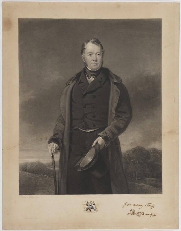 Edward Lloyd-Mostyn, 2nd Baron Mostyn, by Samuel Bellin, published by  Edward Parry, after  William Jones, circa 1841 - NPG D39066 - © National Portrait Gallery, London
