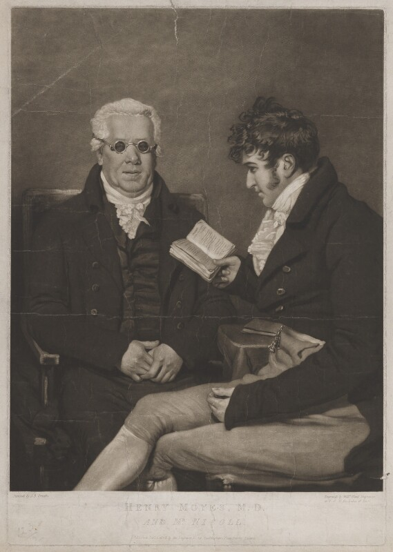 Henry Moyes; William Nicol, by and published by William Ward, after  John Raphael Smith, published 1 December 1806 - NPG D39077 - © National Portrait Gallery, London