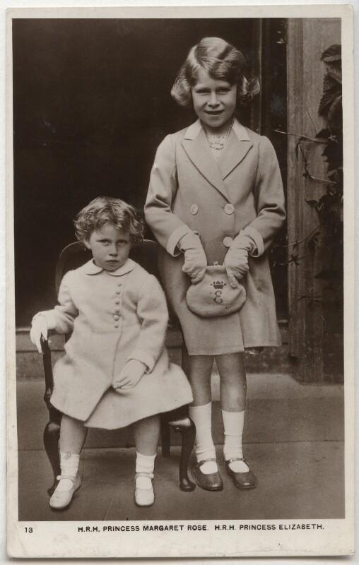 Princess Margaret; Queen Elizabeth II, by Unknown photographer, 1937 - NPG x134352 - © National Portrait Gallery, London