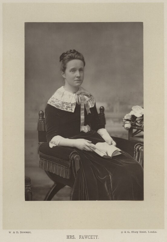 Dame Millicent Garrett Fawcett (née Garrett), by W. & D. Downey, published by  Cassell & Company, Ltd, published 1890 - NPG x28146 - © National Portrait Gallery, London