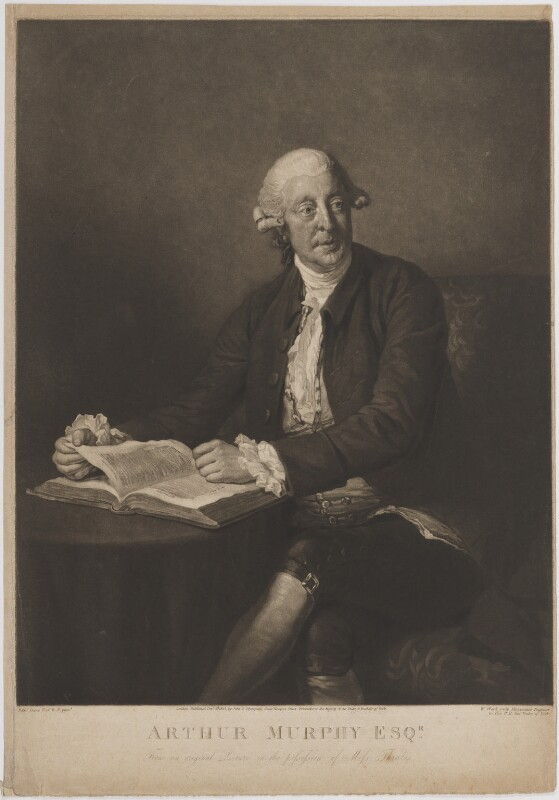 Arthur Murphy, by William Ward, published by  John Peter Thompson, after  Nathaniel Dance (later Sir Nathaniel Holland, Bt), published 5 October 1805 (1777) - NPG D39100 - © National Portrait Gallery, London