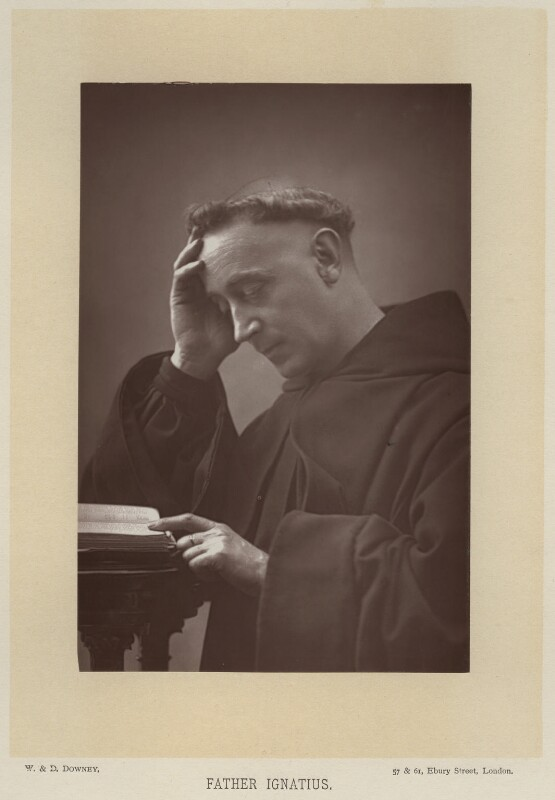 Father Ignatius (Joseph Leycester Lyne), by W. & D. Downey, published by  Cassell & Company, Ltd, published 1891 - NPG x12119 - © National Portrait Gallery, London