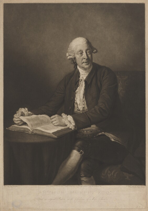 Arthur Murphy, by William Ward, published by  John Peter Thompson, after  Nathaniel Dance (later Sir Nathaniel Holland, Bt), published 5 October 1805 (1777) - NPG D39101 - © National Portrait Gallery, London