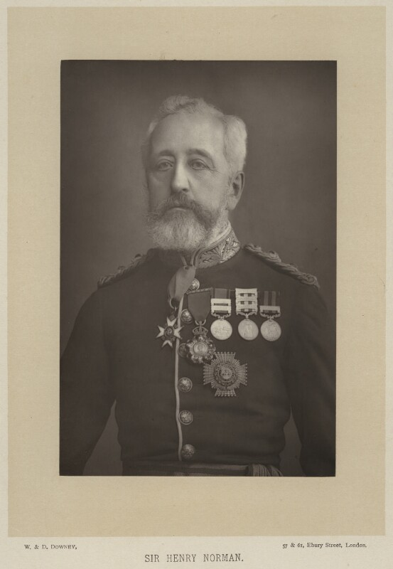 Sir Henry Wylie Norman, by W. & D. Downey, published by  Cassell & Company, Ltd, published 1894 - NPG x21538 - © National Portrait Gallery, London