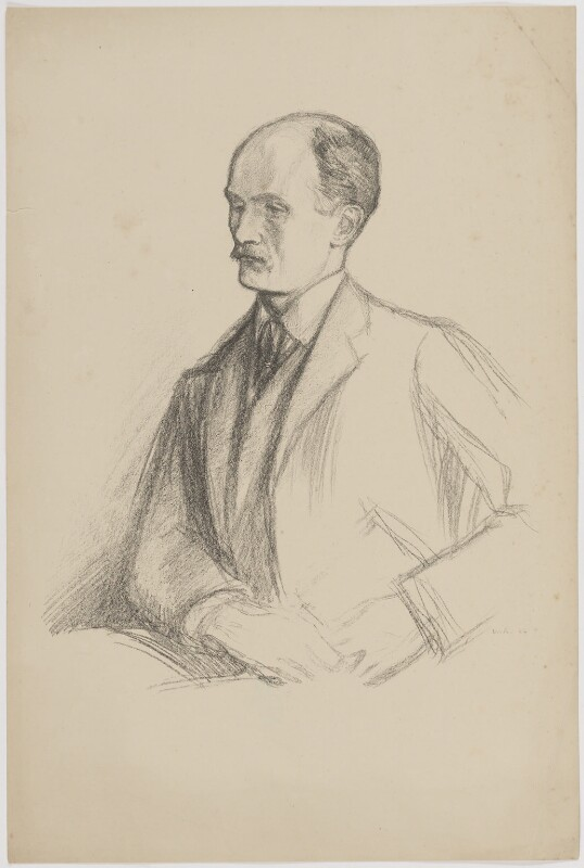 (George) Gilbert Aimé Murray, by William Rothenstein, 1904 - NPG D39111 - © National Portrait Gallery, London