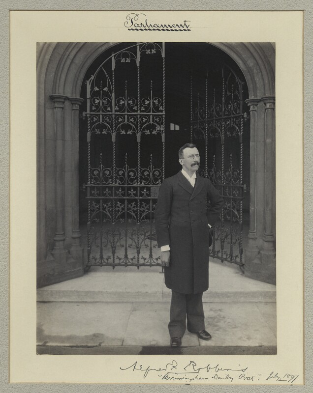 Sir Alfred Farthing Robbins, by Benjamin Stone, July 1897 - NPG x35037 - © National Portrait Gallery, London
