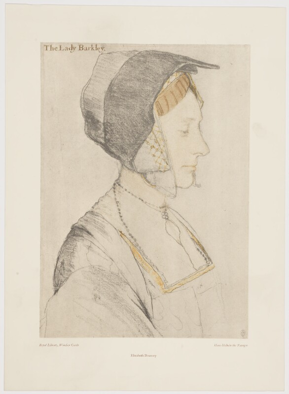 Elizabeth Dauncey (née More), after Hans Holbein the Younger, late 20th century (circa 1526-1527) - NPG D39146 - © National Portrait Gallery, London