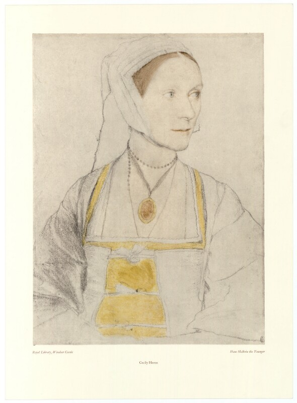 Cecily Heron (née More), after Hans Holbein the Younger, late 20th century (circa 1527) - NPG D39147 - © reserved; collection National Portrait Gallery, London