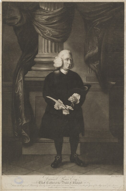 Daniel Race, by James Watson, after  Thomas Hickey, published 15 April 1773 (1773) - NPG D39156 - © National Portrait Gallery, London