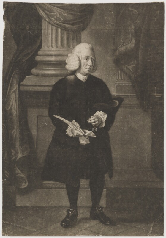 Daniel Race, by James Watson, after  Thomas Hickey, published 15 April 1773 (1773) - NPG D39157 - © National Portrait Gallery, London