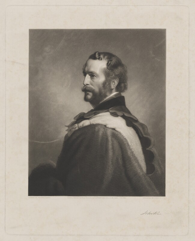 John Rae, by James Scott, published by  Henry Graves & Co, after  Stephen Pearce, published 26 January 1858 (exhibited 1853) - NPG D39171 - © National Portrait Gallery, London