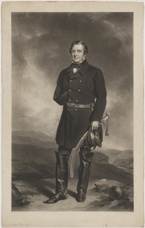 FitzRoy James Henry Somerset, 1st Baron Raglan, by James John Chant, after  Sir Francis Grant, (circa 1858) - NPG D39177 - © National Portrait Gallery, London