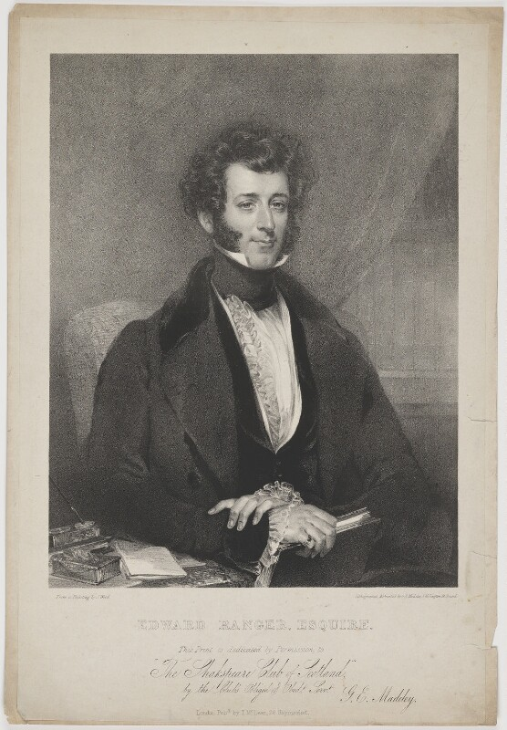 Edward Ranger, by George Edward Madeley, published by  Thomas McLean, after  John Wood, early 19th century - NPG D39202 - © National Portrait Gallery, London