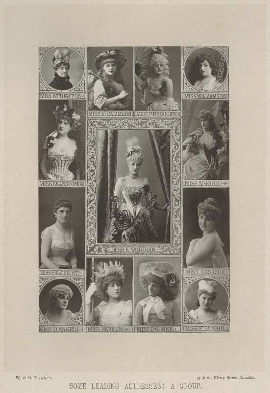 'Some Leading Actresses: A Group', by W. & D. Downey, published by  Cassell & Company, Ltd, published 1890 - NPG x134387 - © National Portrait Gallery, London