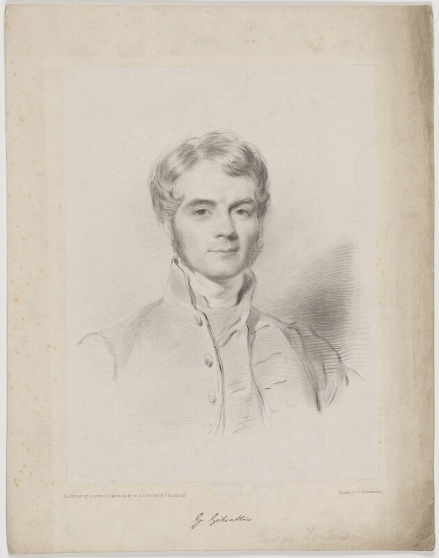George Tomlinson, by Lowes Cato Dickinson, printed by  Charles Joseph Hullmandel, after  George Richmond, circa 1842-1850 - NPG D39643 - © National Portrait Gallery, London
