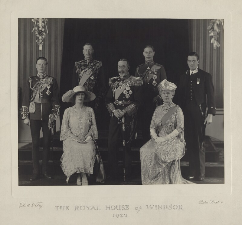 The Royal House of Windsor, by Elliott & Fry, 26 April 1923 - NPG x85796 - © National Portrait Gallery, London