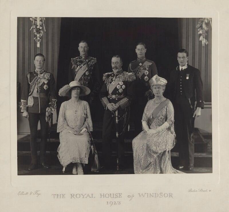 The Royal House of Windsor, by Elliott & Fry, 26 April 1923 - NPG x85796 - © National Portrait Gallery, London