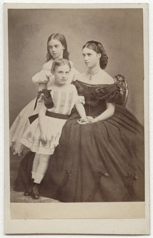 The youngest children of Christian IX, King of Denmark, by J. Petersen, mid 1860s - NPG x131632 - © National Portrait Gallery, London
