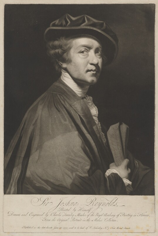 Sir Joshua Reynolds, by and published by Charles Townley, after  Sir Joshua Reynolds, published 30 June 1777 (1775) - NPG D39699 - © National Portrait Gallery, London
