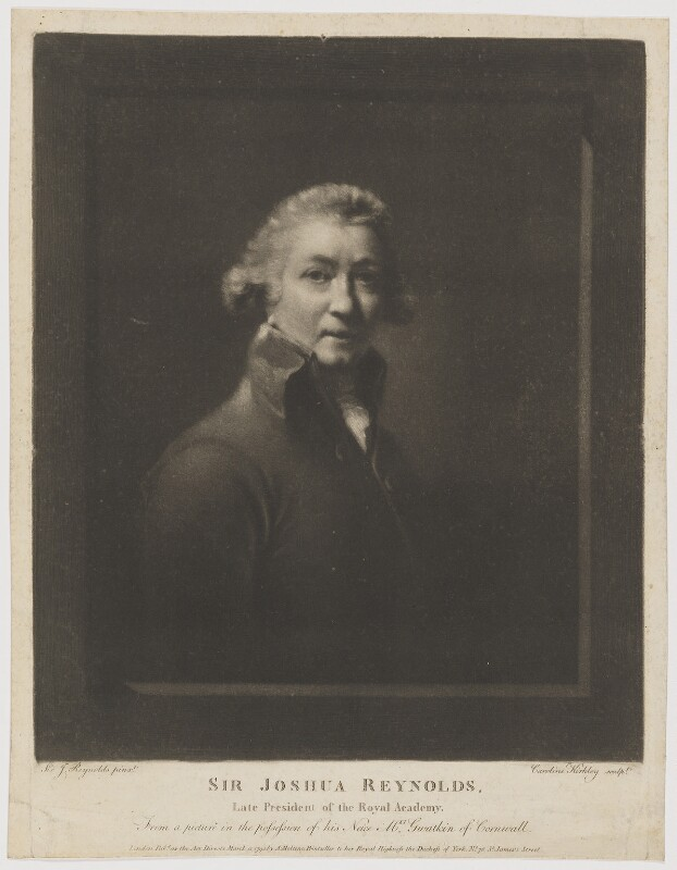 Sir Joshua Reynolds, by Caroline Kirkley, published by  Anthony Molteno, after  Sir Joshua Reynolds, published 13 March 1795 - NPG D39704 - © National Portrait Gallery, London