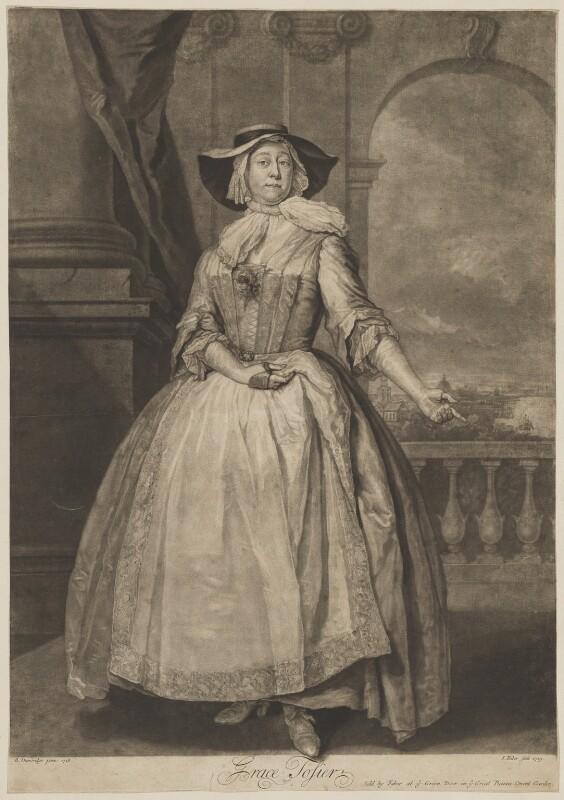 Grace Tosier, by and published by John Faber Jr, after  Bartholomew Dandridge, 1729 (1728) - NPG D39653 - © National Portrait Gallery, London