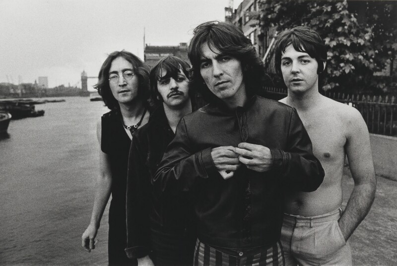 The Beatles (John Lennon, Ringo Starr, George Harrison, Paul McCartney), by Don McCullin, 1968 - NPG P1382 - © Don McCullin