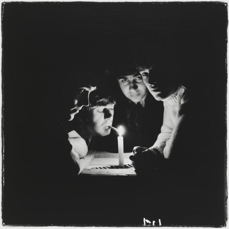 The Spencer Davis Group (Muff Winwood, Spencer Davis, Pete York, Steve Winwood), by Gered Mankowitz, 1966 - NPG P1374 - Photograph by Gered Mankowitz © Bowstir Ltd 2018 / mankowitz.com