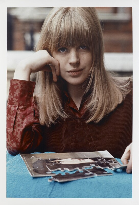 Marianne Faithfull, by Tony Frank, 1965 - NPG P1376 - © tonyfrank / National Portrait Gallery, London