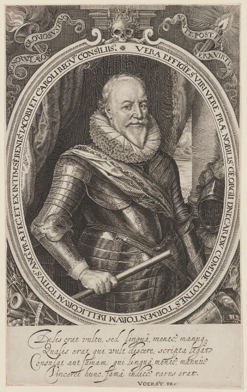 George Carew, Earl of Totnes, by Robert van Voerst, published 1633 - NPG D39654 - © National Portrait Gallery, London
