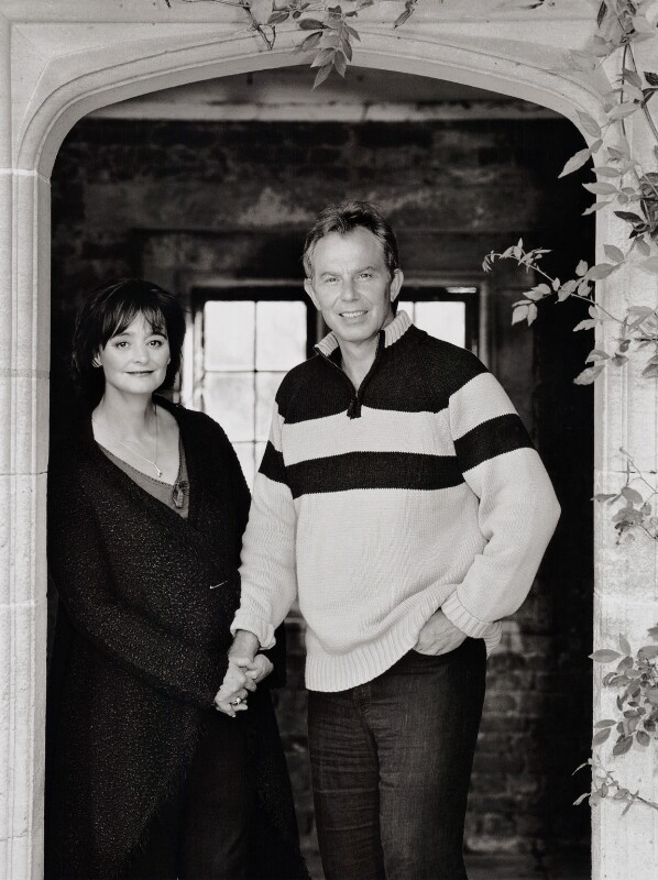 Cherie Blair (née Booth); Tony Blair, by John Swannell, 2010 - NPG x134406 - © John Swannell / Camera Press