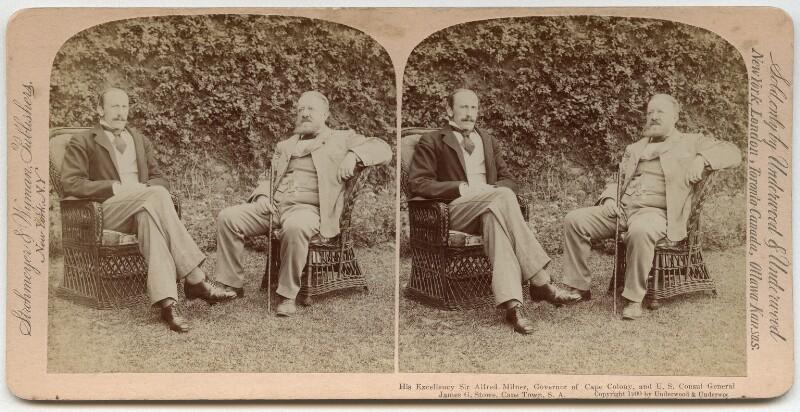 Alfred Milner, Viscount Milner; James G. Stowe, by Underwood & Underwood, published by  Strohmeyer & Wyman, 1900 - NPG x134434 - © National Portrait Gallery, London