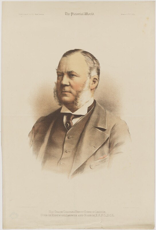 Charles Henry Gordon-Lennox, 6th Duke of Richmond, 6th Duke of Lennox and 1st Duke of Gordon, by Maclure & Macdonald, after  London Stereoscopic & Photographic Company, published 17 March 1883 - NPG D39757 - © National Portrait Gallery, London