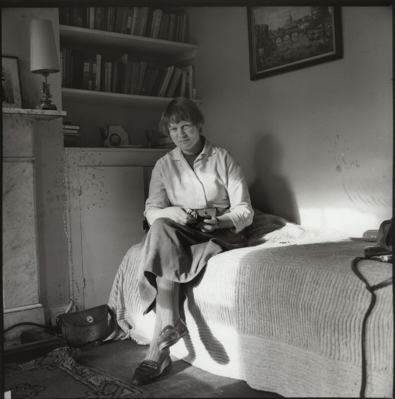 Iris Murdoch, by Ida Kar, 1957 - NPG x134438 - © National Portrait Gallery, London