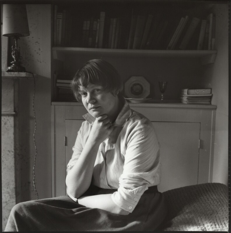 Iris Murdoch, by Ida Kar, 1957 - NPG x134439 - © National Portrait Gallery, London
