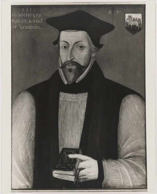 Nicholas Ridley, after Unknown artist, 1963 or before (1555) - NPG D39765 - © National Portrait Gallery, London