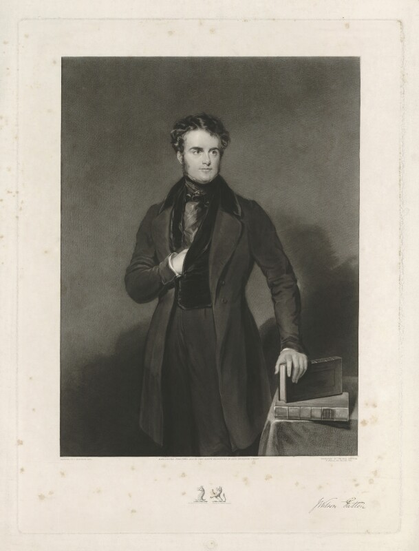 John Wilson-Patten, Baron Winmarleigh, by Thomas Goff Lupton, published by  Thomas Agnew, after  John Bostock, published 1838 - NPG D39566 - © National Portrait Gallery, London
