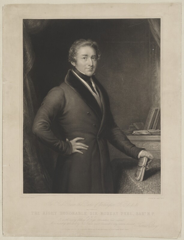 Sir Robert Peel, 2nd Bt, by James Scott, published by  Thomas Boys, after  John Linnell, published 1 January 1840 - NPG D39596 - © National Portrait Gallery, London