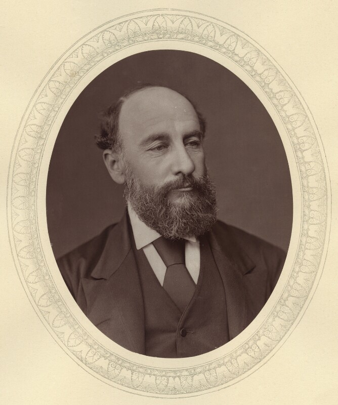 Sir George Strong Nares, by Lock & Whitfield, published by  Sampson Low, Marston, Searle and Rivington, published 1878 - NPG x21472 - © National Portrait Gallery, London