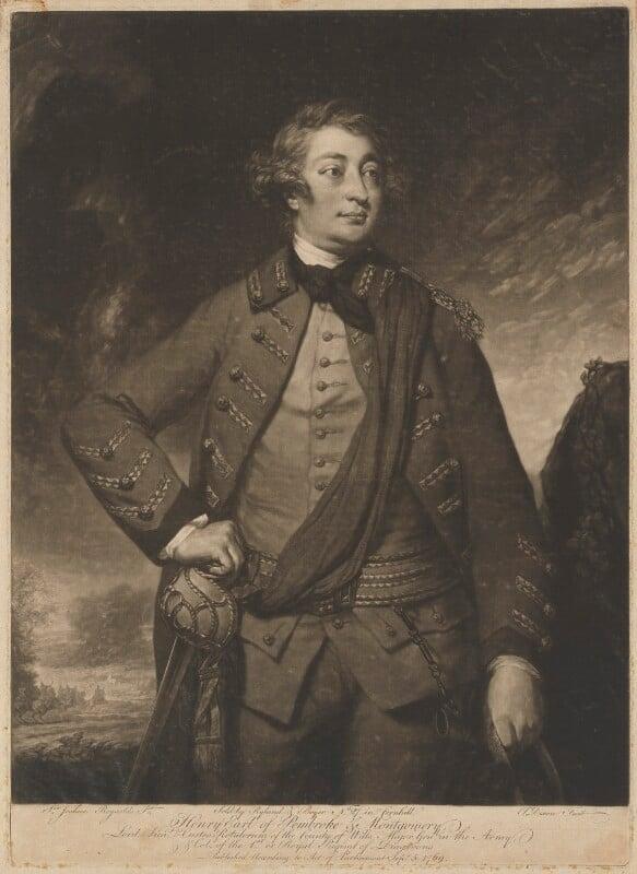 Henry Herbert, 10th Earl of Pembroke, by John Dixon, published by  Ryland and Bryer, after  Sir Joshua Reynolds, published 5 September 1769 - NPG D40129 - © National Portrait Gallery, London