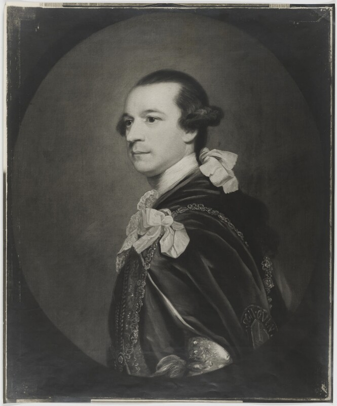 Charles Watson-Wentworth, 2nd Marquess of Rockingham, after Sir Joshua Reynolds, 1947 or before (1766-1768) - NPG D39827 - © National Portrait Gallery, London