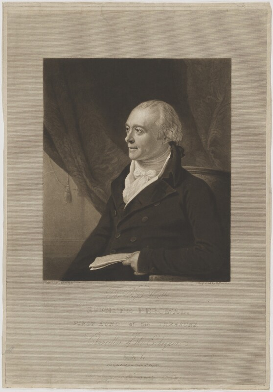 Spencer Perceval, by and published by Charles Turner, after  George Francis Joseph, published 1 August 1812 - NPG D40156 - © National Portrait Gallery, London