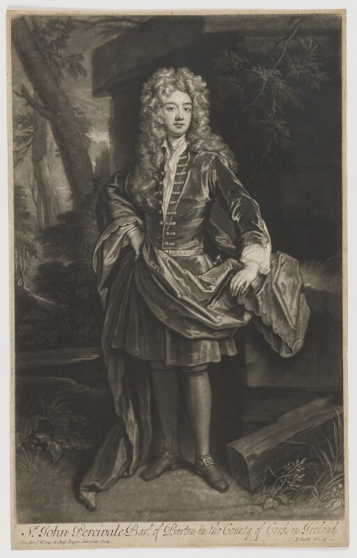 John Perceval, 1st Earl of Egmont, by and published by John Smith, after  Sir Godfrey Kneller, Bt, 1708 (1704) - NPG D40160 - © National Portrait Gallery, London