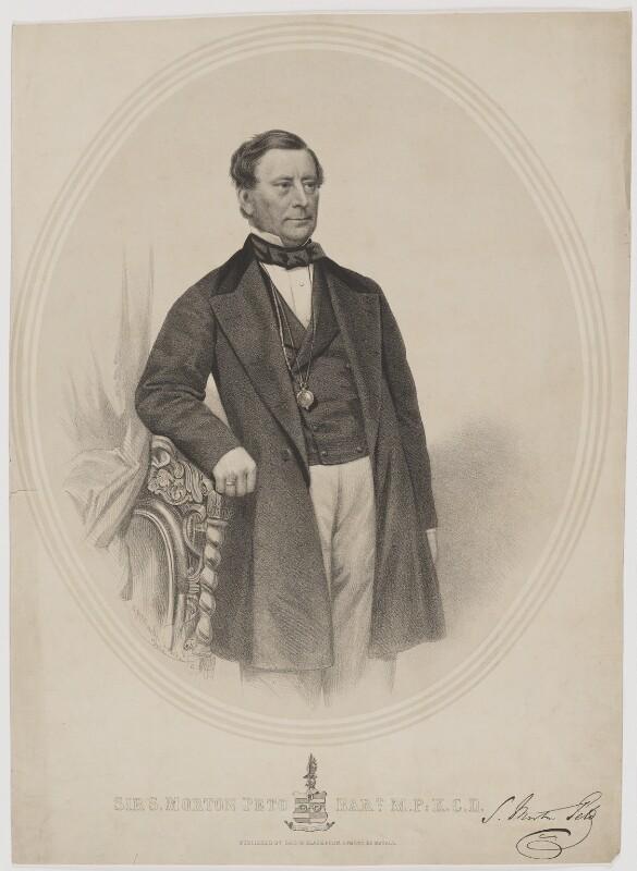 Sir (Samuel) Morton Peto, 1st Bt, by George B. Black, after  John Jabez Edwin Mayall, 1864 - NPG D40174 - © National Portrait Gallery, London