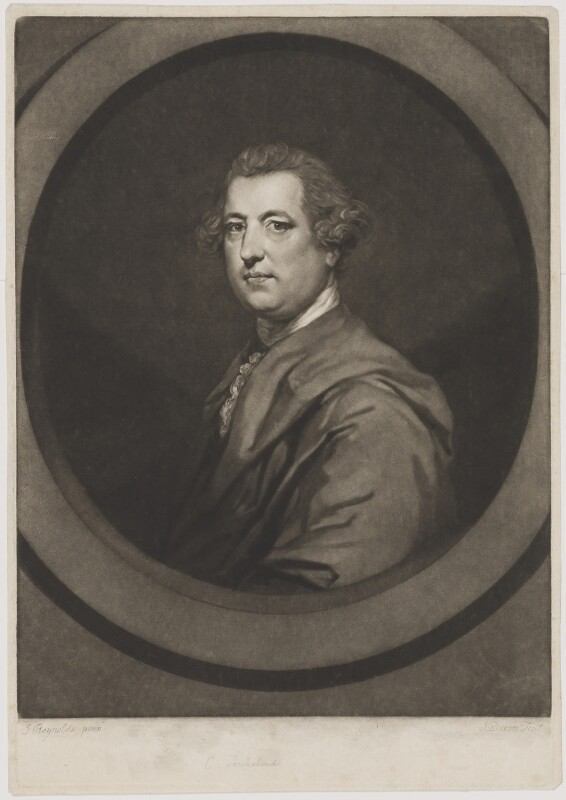 Charles Townshend, by John Dixon, after  Sir Joshua Reynolds, circa 1770 (1765-1767) - NPG D40074 - © National Portrait Gallery, London