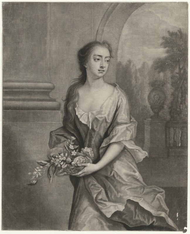 Elizabeth Egerton (née Churchill), Countess of Bridgewater, by William Faithorne Jr, after  Michael Dahl, early 1700s - NPG D39867 - © National Portrait Gallery, London