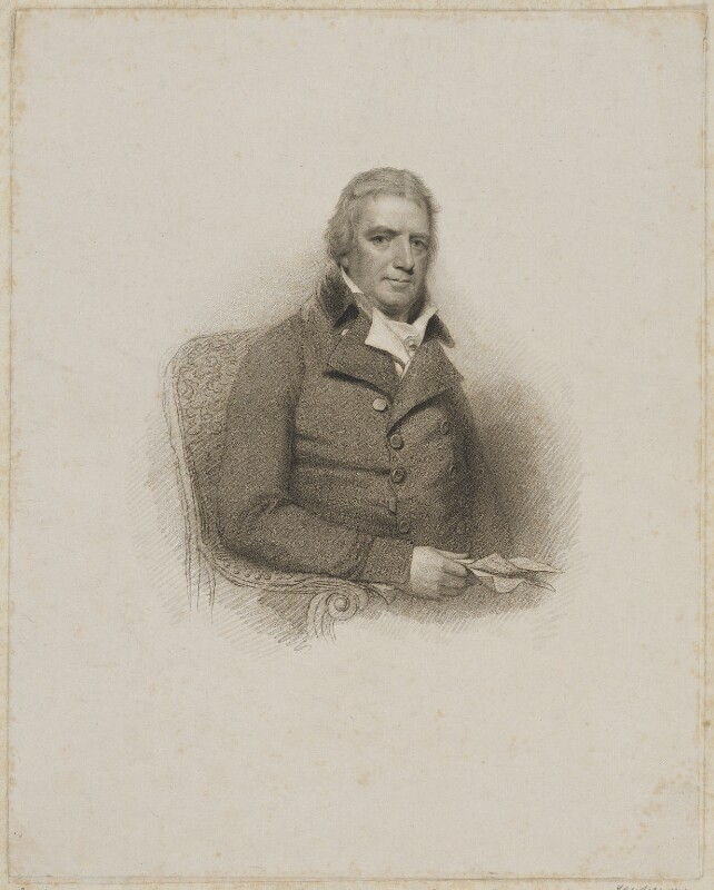 George Rose, by Giovanni Vendramini, after  William Evans, after  Sir William Beechey, published 1811 (1802) - NPG D39872 - © National Portrait Gallery, London