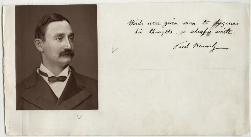 Frederick Burnaby, by Lock & Whitfield, circa 1877 - NPG x4902 - © National Portrait Gallery, London