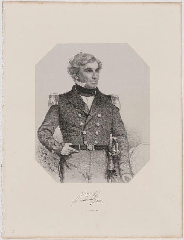 Sir James Clark Ross, by Thomas Herbert Maguire, printed by  M & N Hanhart, 1851 - NPG D39878 - © National Portrait Gallery, London