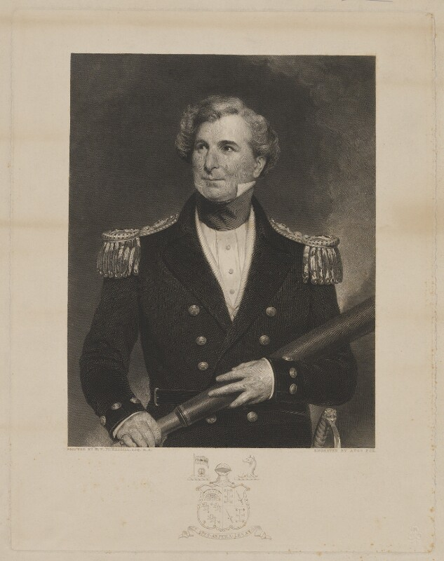 Sir James Clark Ross, by Augustus Fox, after  Henry William Pickersgill, published 1850 - NPG D39881 - © National Portrait Gallery, London